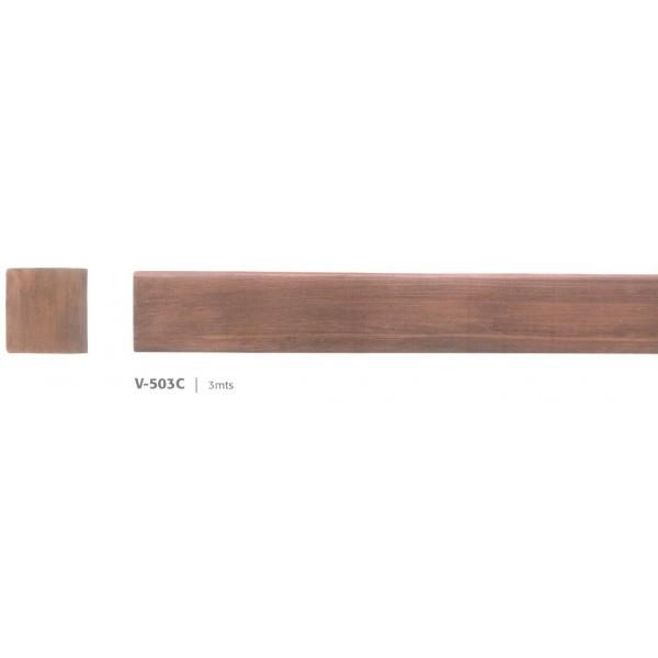 Viga nervada v 500 10 x 10 cm vigas huecas imitaci n madera - Vigas de madera huecas ...