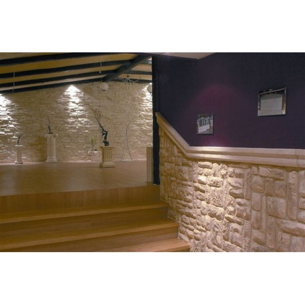Revestimiento interior piedra amarrila irregular - Plaqueta imitacion madera ...